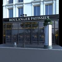3d model paris street lamp