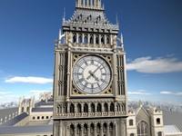 london big ben 3d model