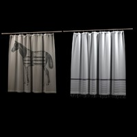 3d model curtain horse shower