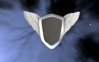 3d shield wings model