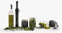 olive oil set 3d max