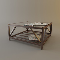 3d max eichholtz table coffee slatted