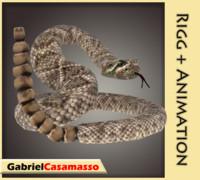 snake rattlesnake 3d x