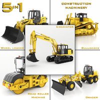 3d model construction machinery 5 1
