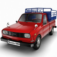 3d model mazda 1000 pickup
