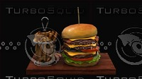 3ds max burger hamburger