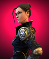 3d eve sexy woman warrior character model
