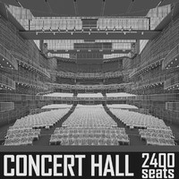 Concert Hall Interior 2400 seats