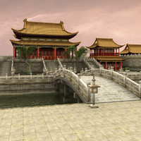 3d model of palace china