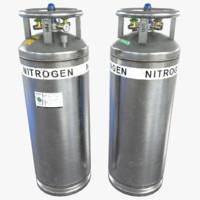 3d model of nitrogen tank