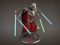 3d model general star wars