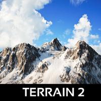 mountain terrain snowy max