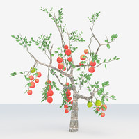 apple tree 3d max