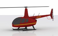 3d helicopter robinson model