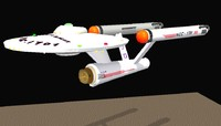 star ship enterprize 3d model