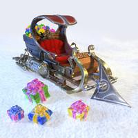 3ds max sleigh sledges sleds