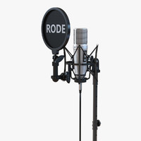 3d studio microphone rode stand model