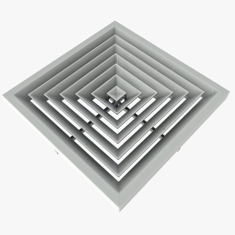 #505358 3ds Max Ceiling Vent Best 1683 Ceiling Air Vents photos with 1600x1600 px on helpvideos.info - Air Conditioners, Air Coolers and more