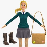 school student 1 3d model