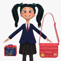 school student blazer 3d max
