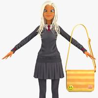 school student pullover 3d model