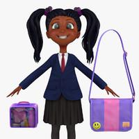 3d model school student blazer