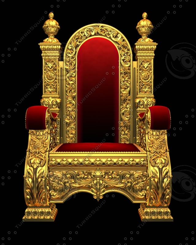 3d model royal chair armchair