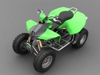 high-poly quad bike 3d model