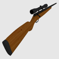 3d model hunting rifle rigged