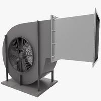 3d model ventilation grid