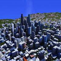 modern city building texturing 3d ma