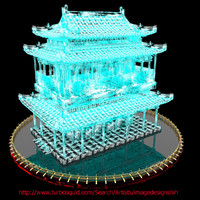 3ds max chinese house