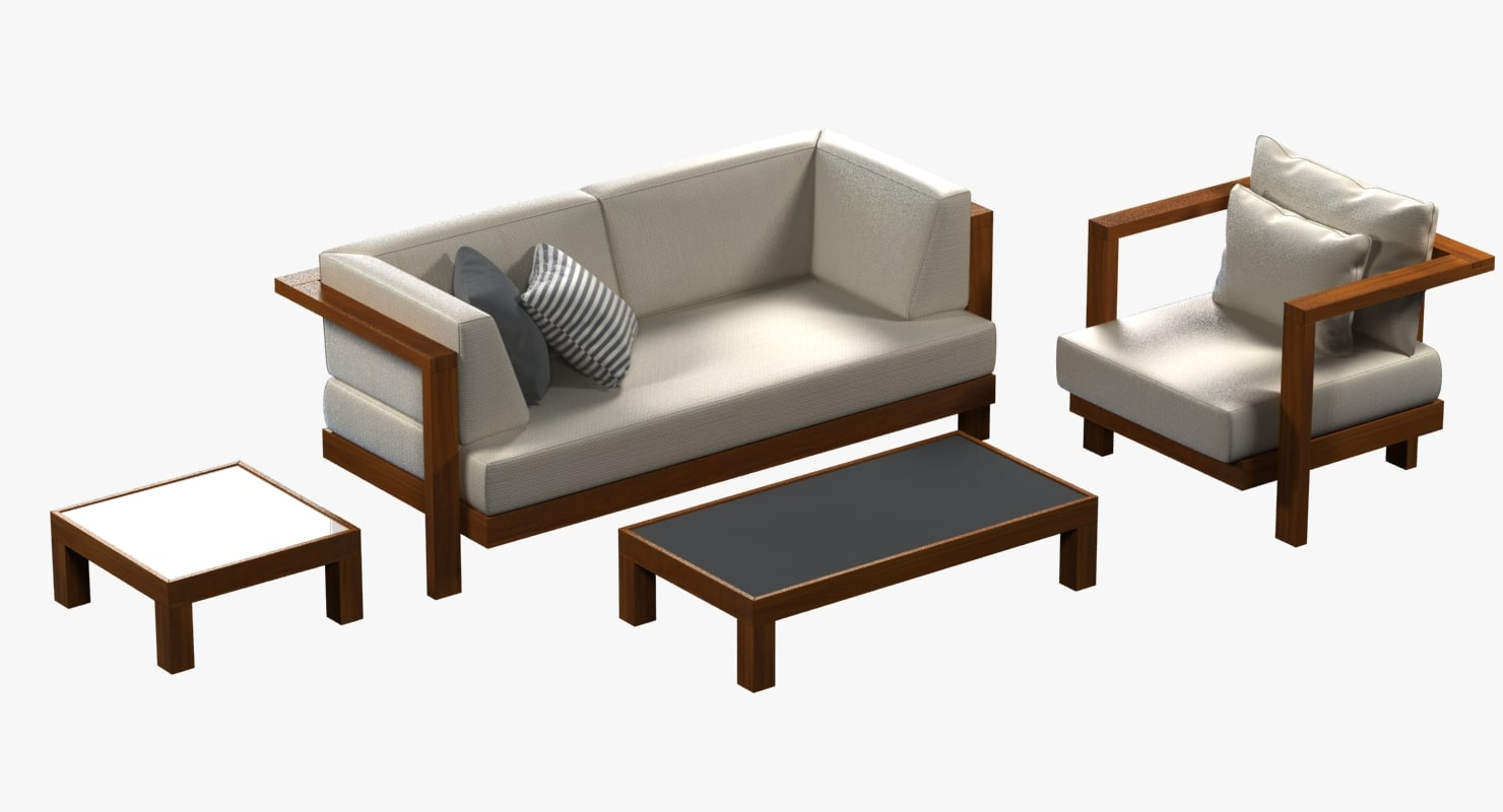 outdoor sofa chair pure 3d model