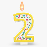 realistic number candles 2 3d max