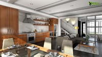 Residential 3D Interior Kitchen Design