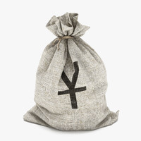 money bag yuan 3d max