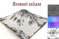 3d dormant volcano model