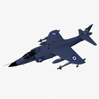 bae sea harrier frs1 3d model