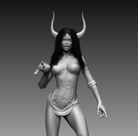 3d model realistic zbrush female character
