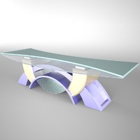 3d model tv studio news desk