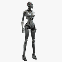3d model robot bot female