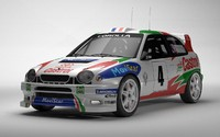 3d toyota corolla wrc rally model