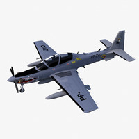 3d model embraer emb 314 super