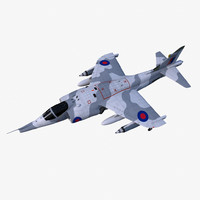 hawker siddeley harrier gr3 obj