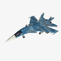 sukhoi su-34 strike fighter 3d obj
