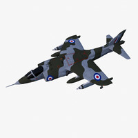 hawker siddeley harrier gr1 3d obj