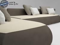 3d italy fat sofa model