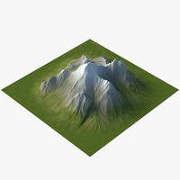 3d max mountain displace flat
