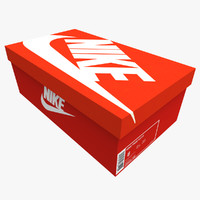 3d box shoes sport model