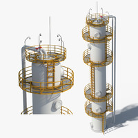 oil gas storage 3d model